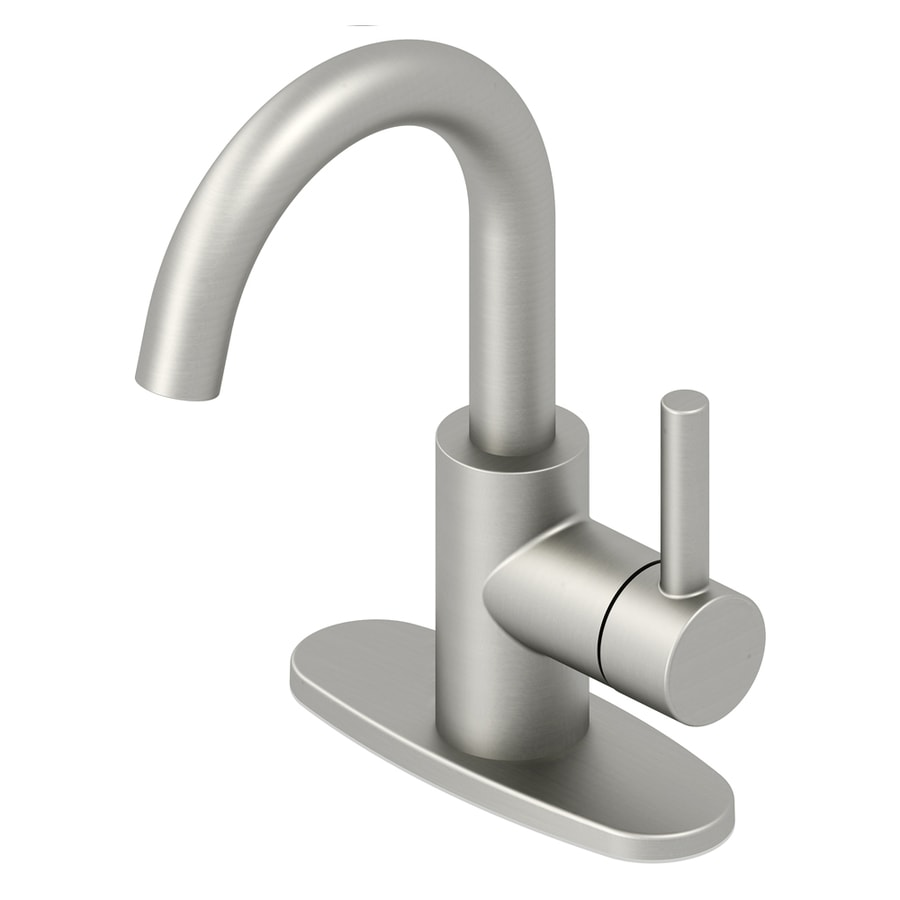 Shop Jacuzzi Duncan Brushed Nickel Pvd 1-Handle 4-in Centerset ...