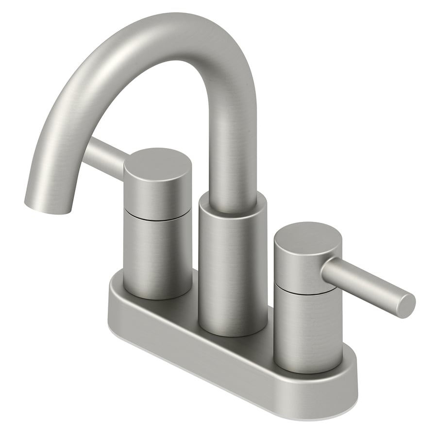 Shop Jacuzzi Duncan Brushed Nickel PVD 2-Handle 4-in Centerset ...