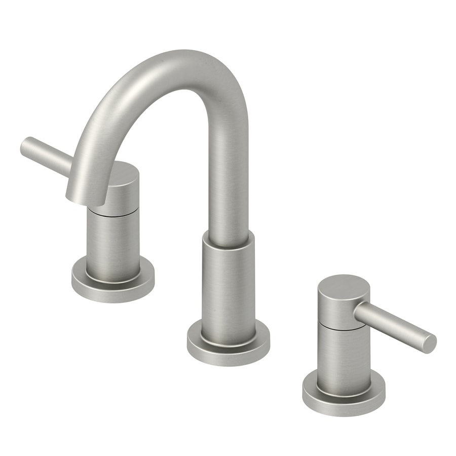 Jacuzzi Duncan Bushed Nickel PVD 2 Handle Widespread WaterSense Bathroom  Faucet  Drain Included. Shop Bathroom Faucets at Lowes com