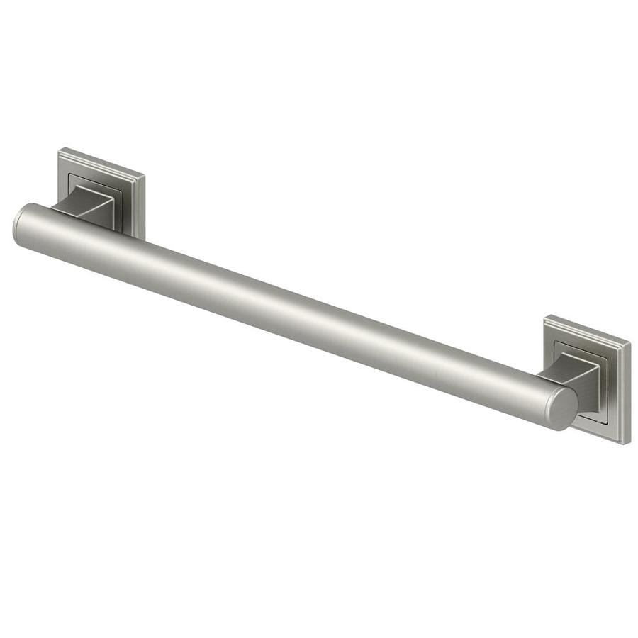 allen + roth 18-in Brushed Stainless Steel Wall Mount Grab Bar
