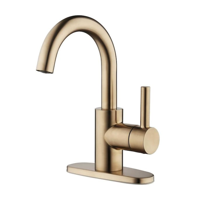 Jacuzzi Duncan Brushed Bronze 1 Handle 4 In Centerset Watersense Bathroom Sink Faucet With Drain And Deck Plate In The Bathroom Sink Faucets Department At Lowes Com