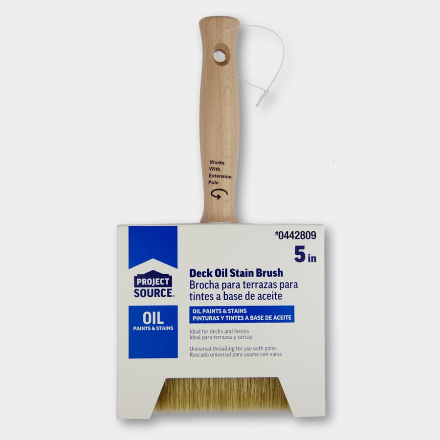Blue Hawk Natural Bristle Polyester Blend Flat 5 In Paint Brush