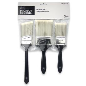 Project Source 3 Pack Utility Polyester Flat And Angle Paint Brush Set