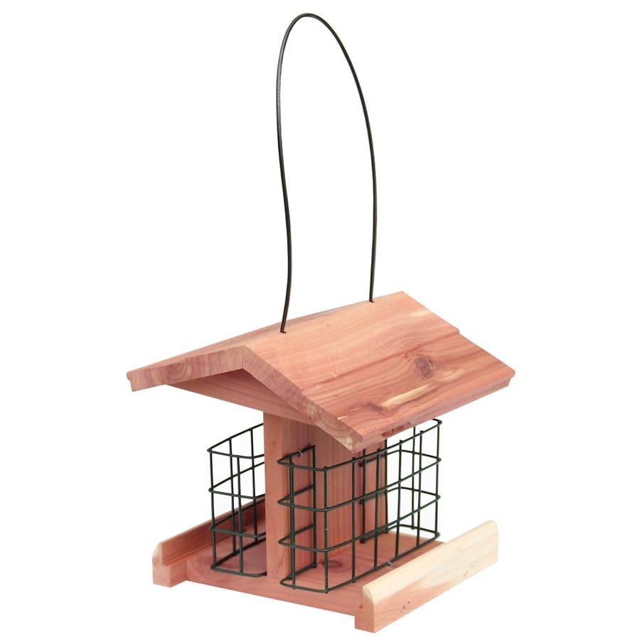 Garden Treasures Natural Cedar Cedar Suet Bird Feeder