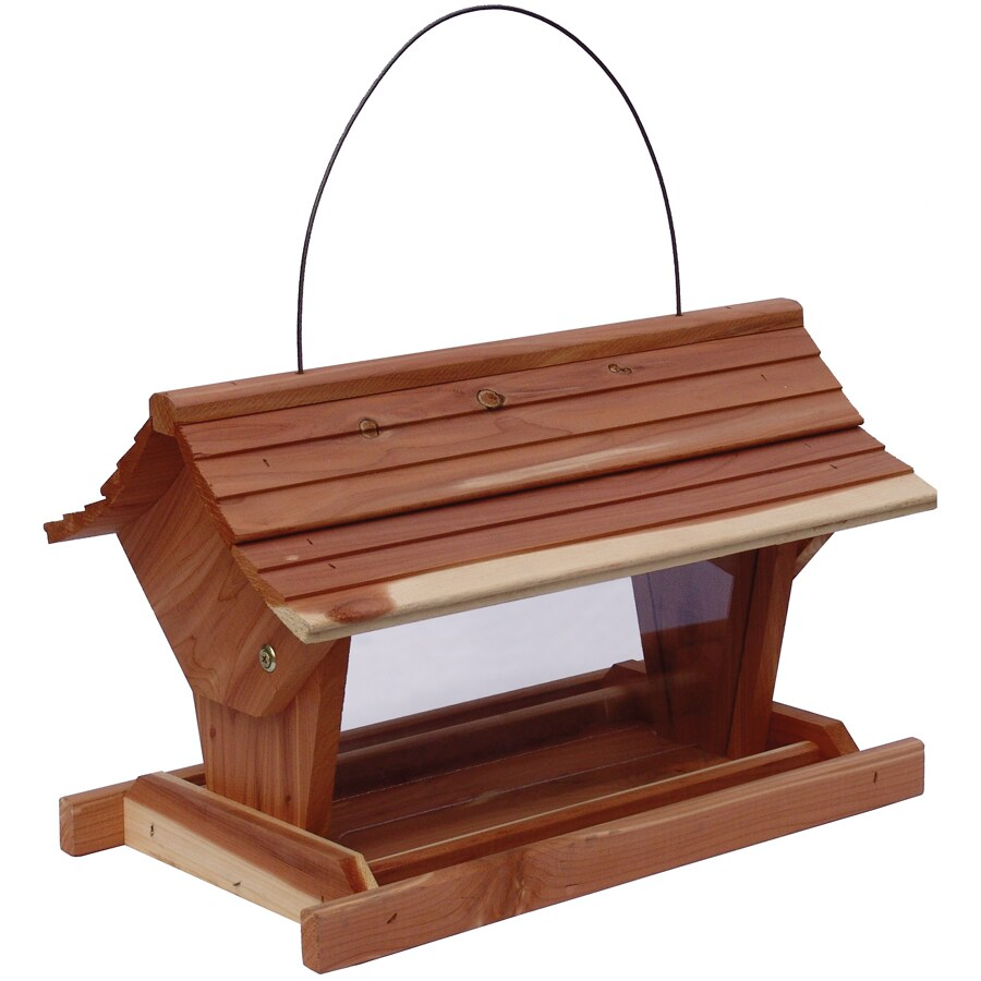 Garden Treasures Garden Treasures Natural Cedar Cedar Hopper Bird Feeder