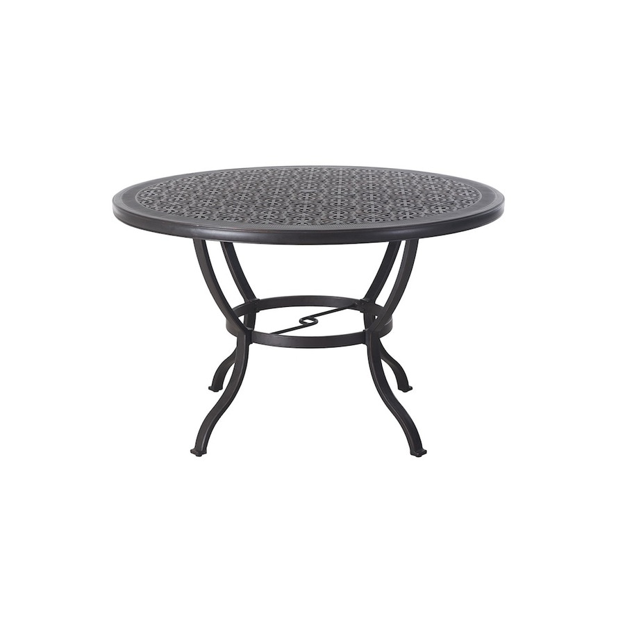 Shop Allen Roth 60 In W X 60 In L Round Aluminum Dining Table At