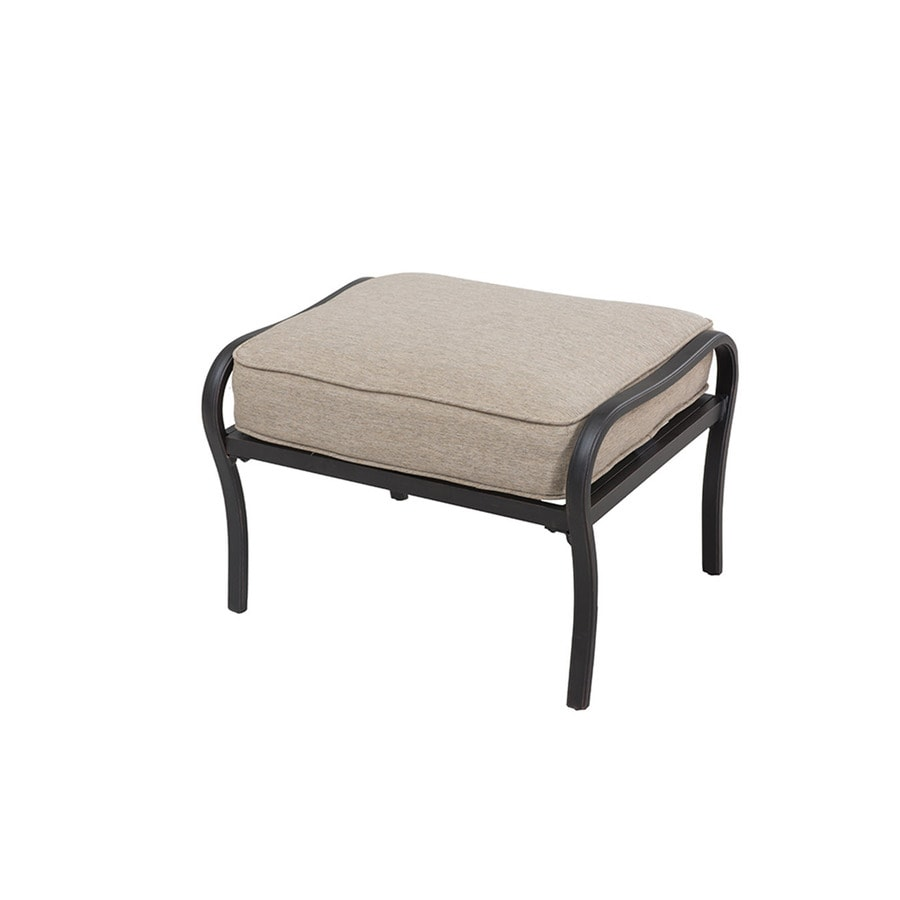allen + roth Ebervale Aged Bronze Material Ottoman
