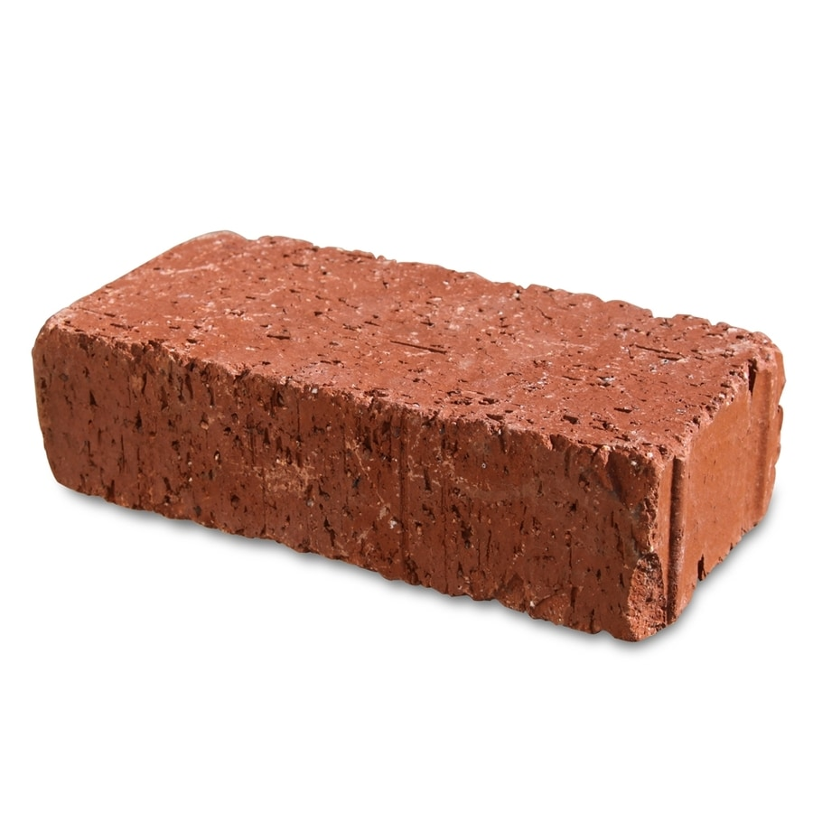 Pacific Clay Red Velour Paver (Common: 4-in x 8-in; Actual: 4-in x 8-in)