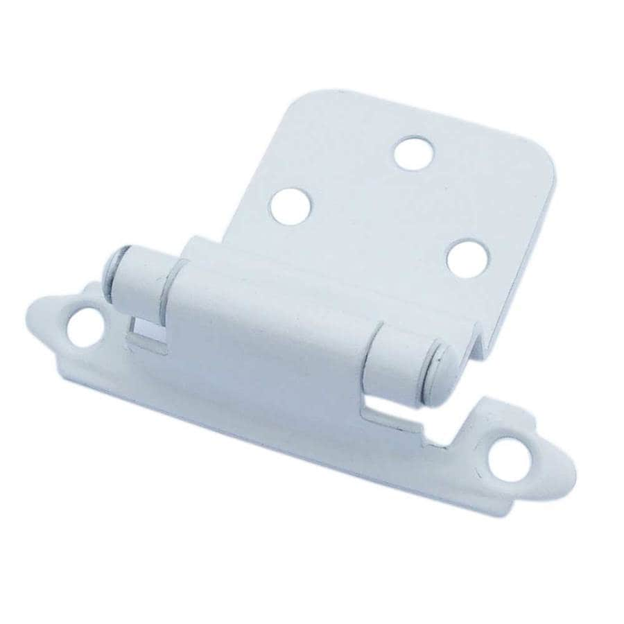 Gatehouse 2-Pack 2-3/4-in x 2-1/8-in White Self-Closing Cabinet Hinges