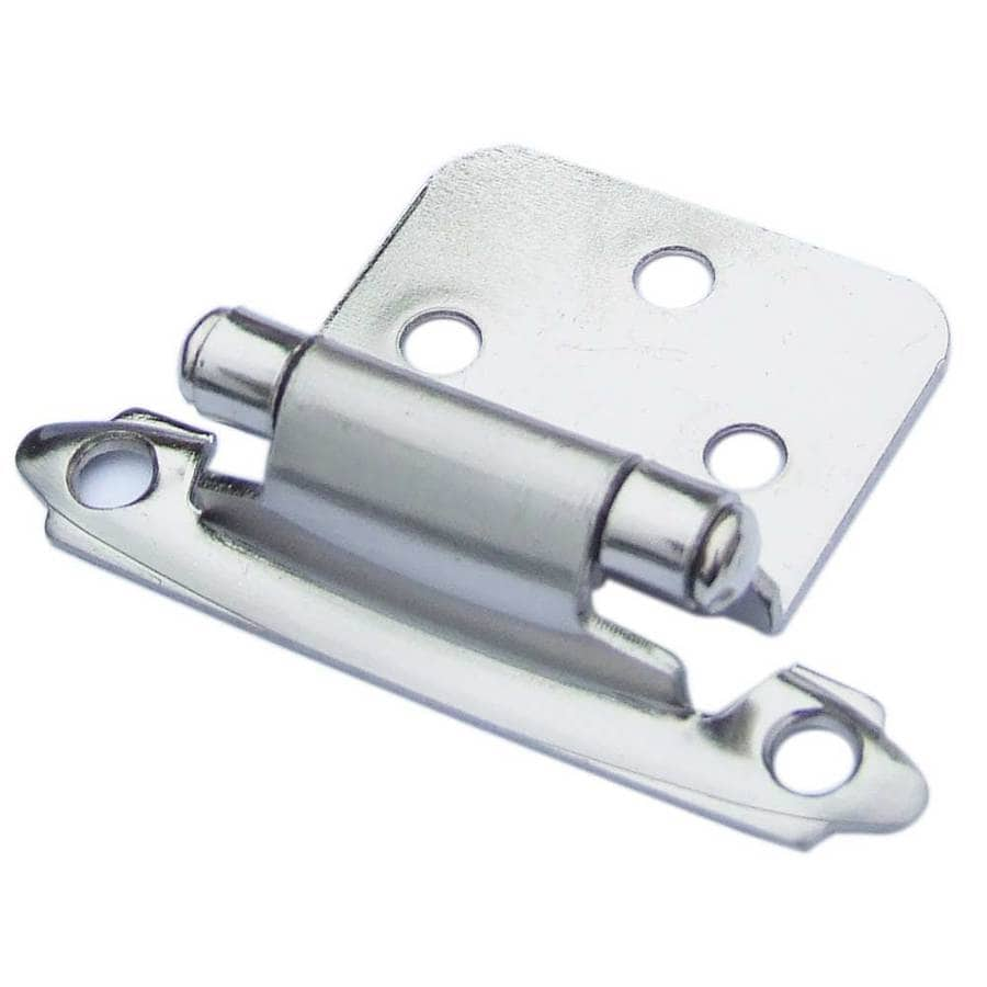Gatehouse 2-Pack 2-3/4-in x 1-7/8-in Satin Nickel Self-Closing Cabinet Hinges