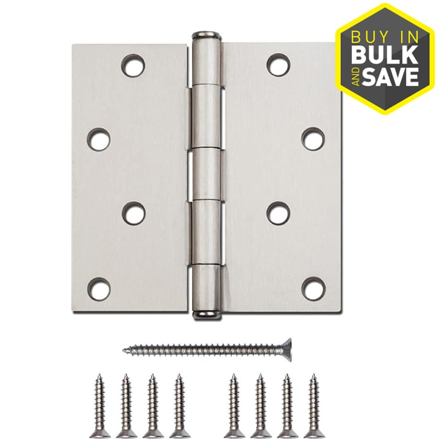 Gatehouse Satin Nickel Radius Door Hinge