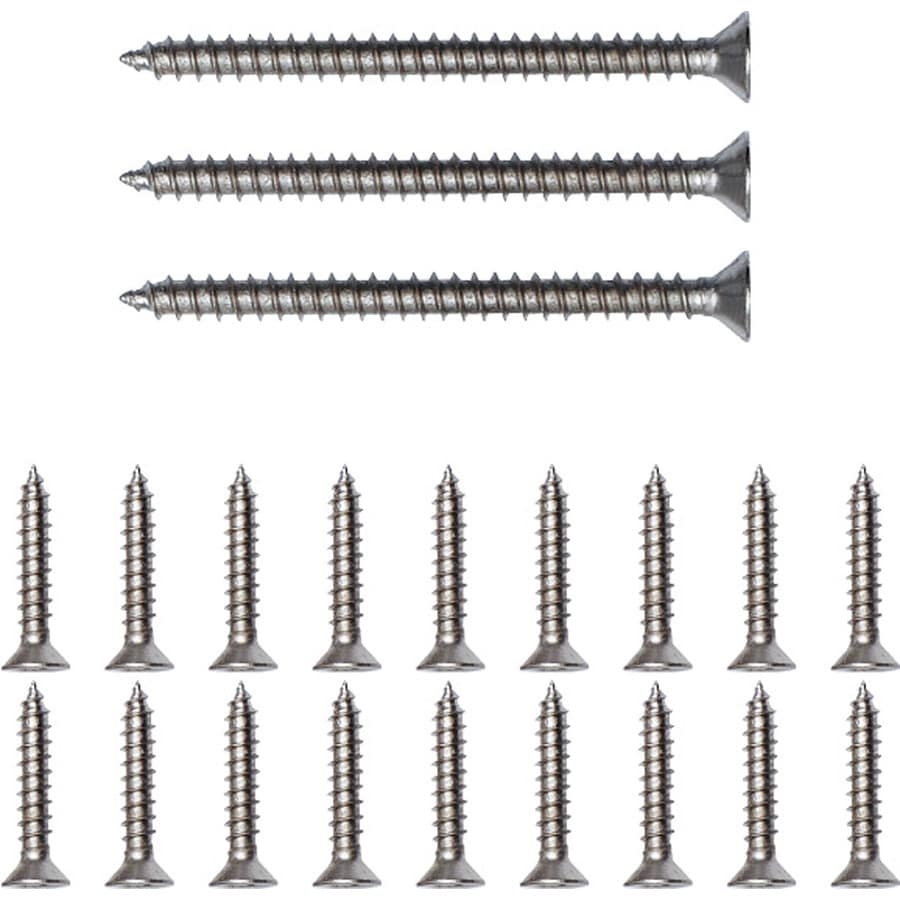 Gatehouse 18-Count #9 x 1-in Flat-Head Nickel Interior Wood Screws