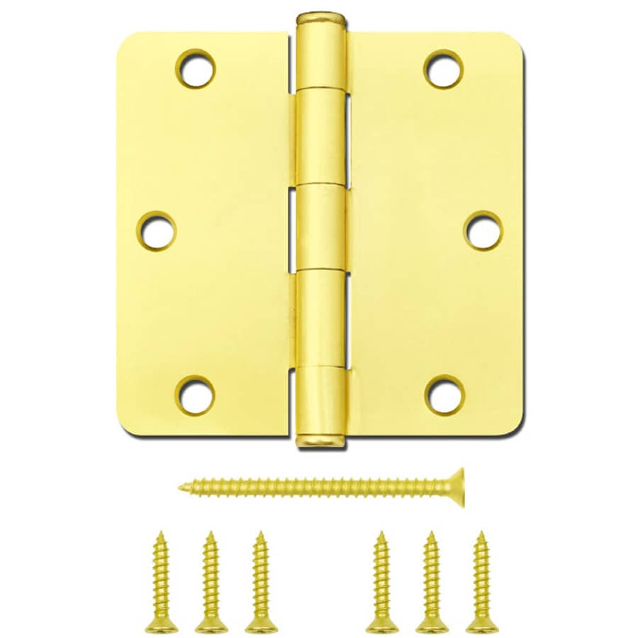 Gatehouse Satin Brass Radius Door Hinge