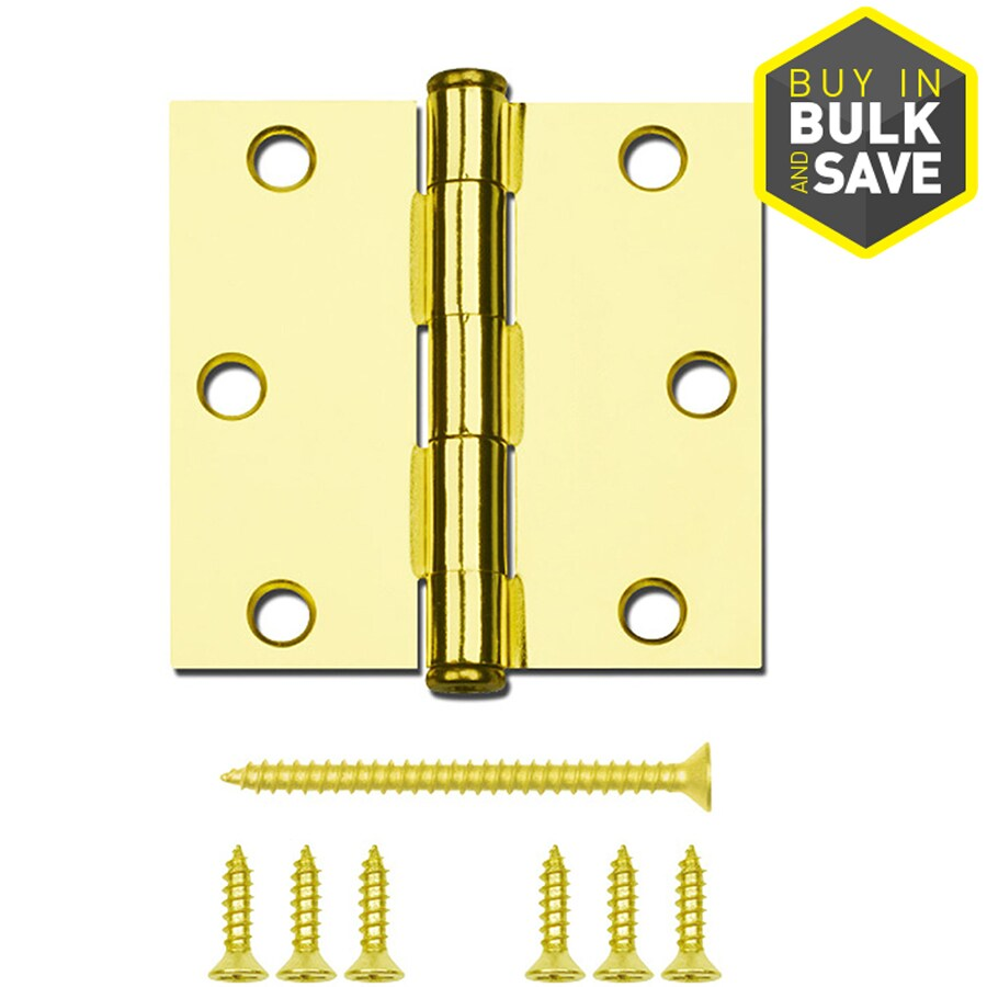 Gatehouse Polished Brass Radius Door Hinge