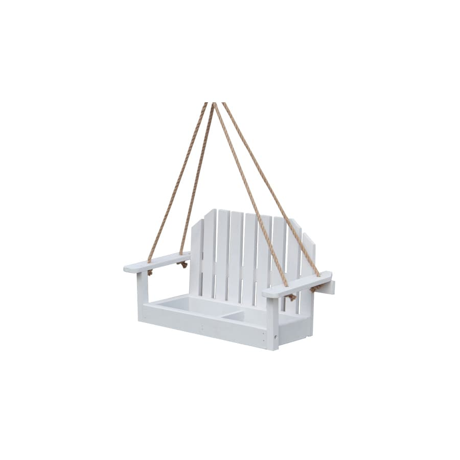 Garden Treasures White Wood Platform Bird Feeder