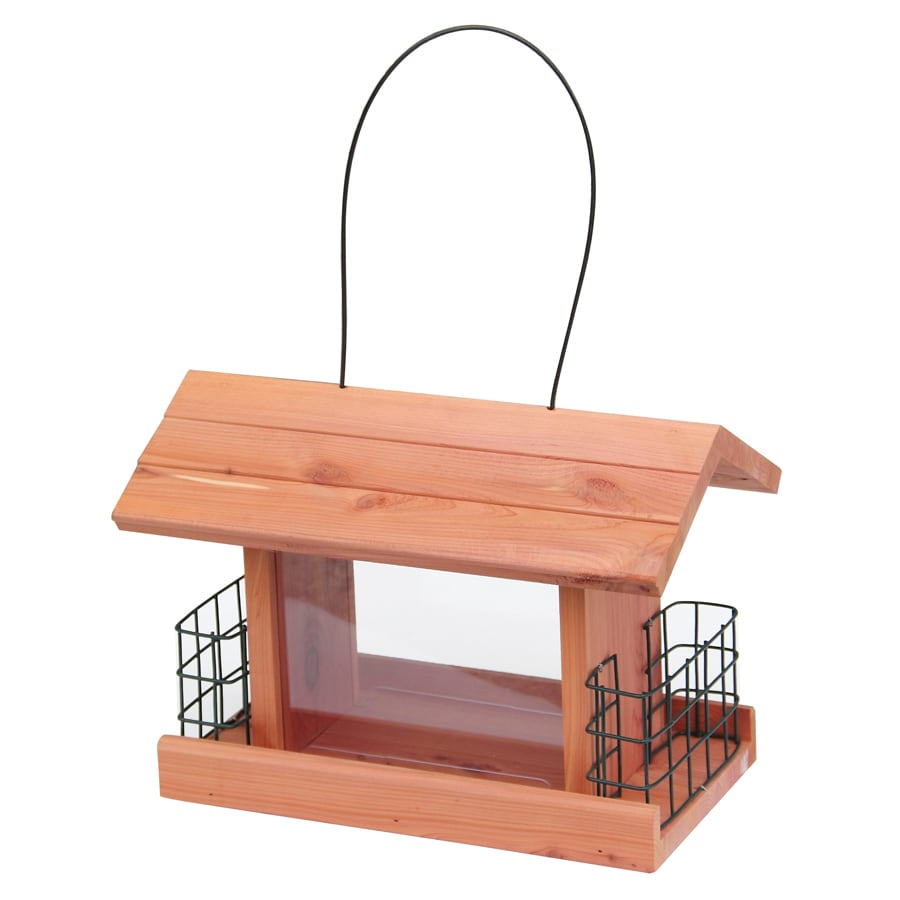 Garden Treasures Natural Cedar Cedar Hopper Bird Feeder