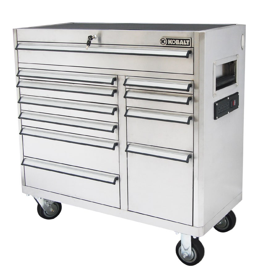 Shop Kobalt 11 Drawer 41 In Stainless Steel Tool Chest At