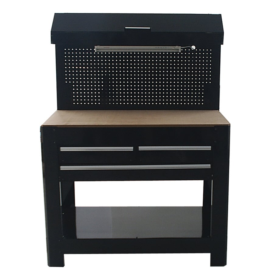 Shop Kobalt 45-in W X 36-in H 3-Drawer Wood Work Bench At