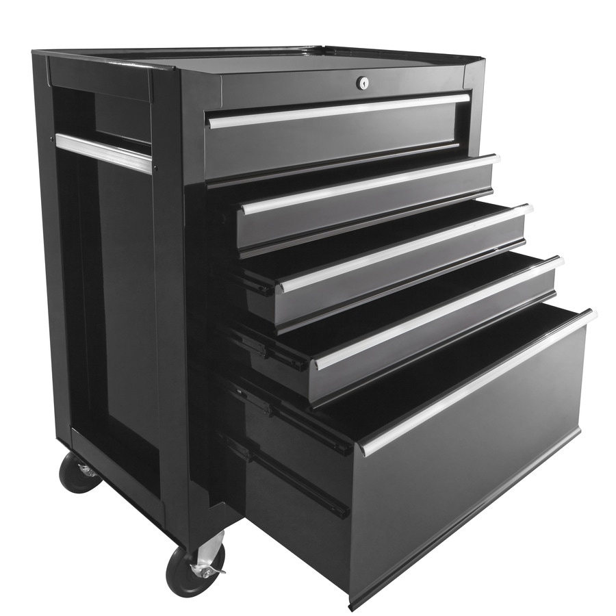 Shop 33-in x 26.8-in 5-Drawer Ball-Bearing Steel Tool Cabinet ...