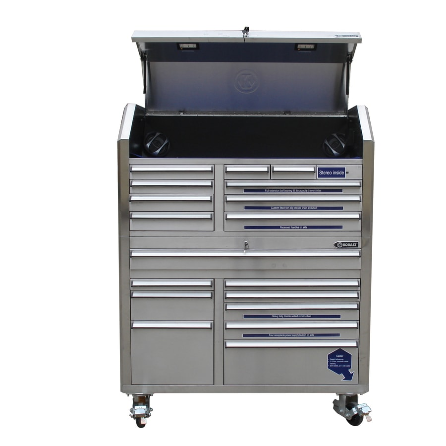 Delicieux Kobalt 68.7 In X 53 In 18 Drawer Ball Bearing Stainless Steel