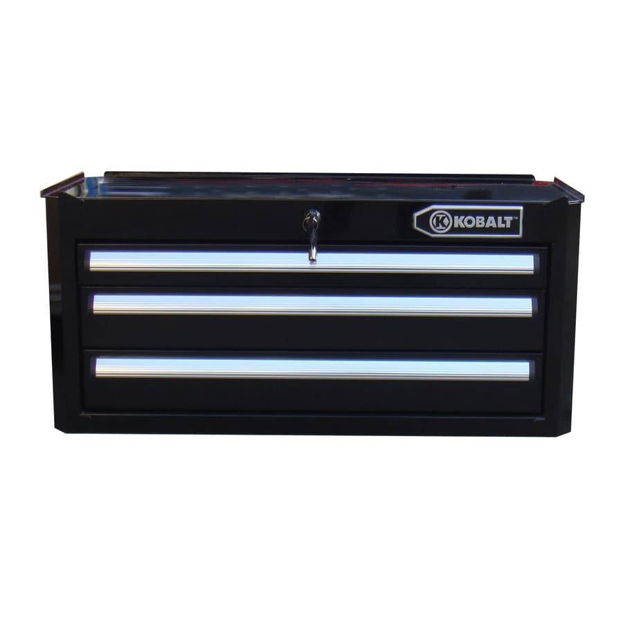 Kobalt 11-in x 27-in 3-Drawer Ball-Bearing Steel Tool Chest (Black)