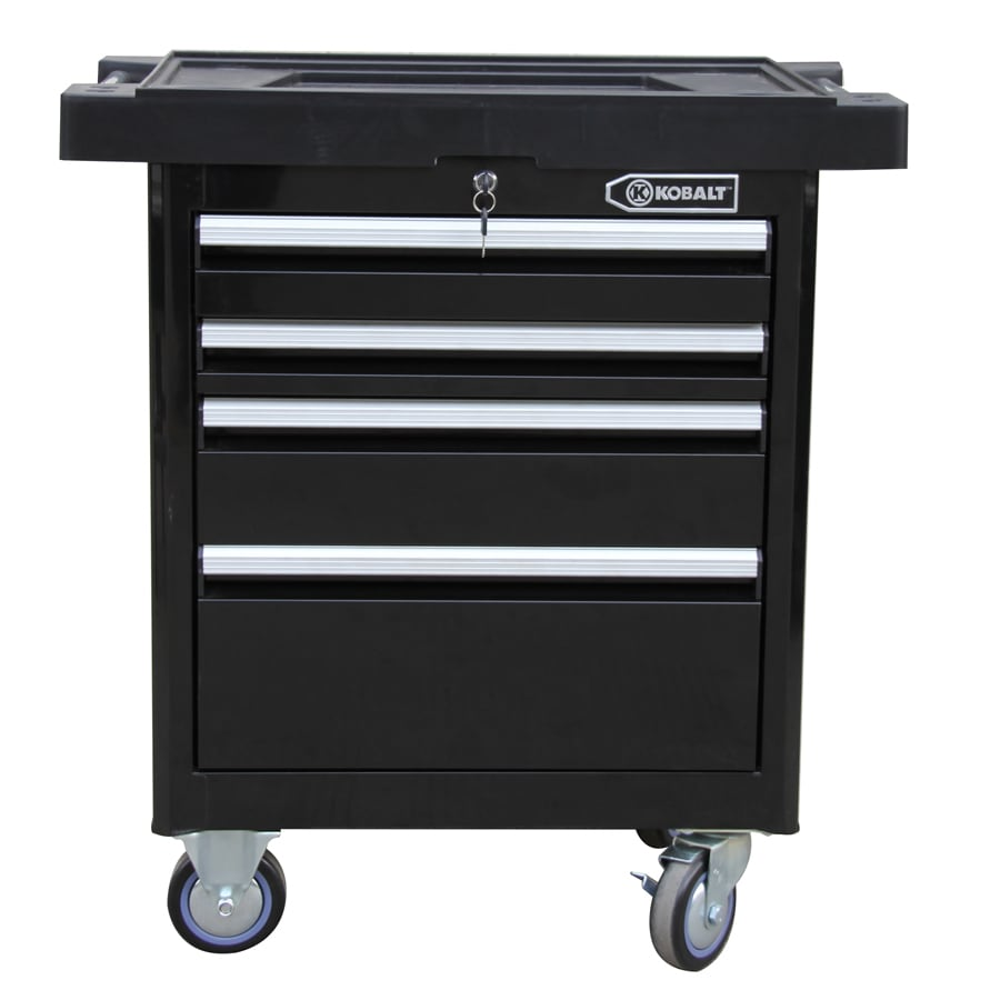 Kobalt 40-in x 33.4-in 4-Drawer Ball-bearing Steel Tool Cabinet (Black)