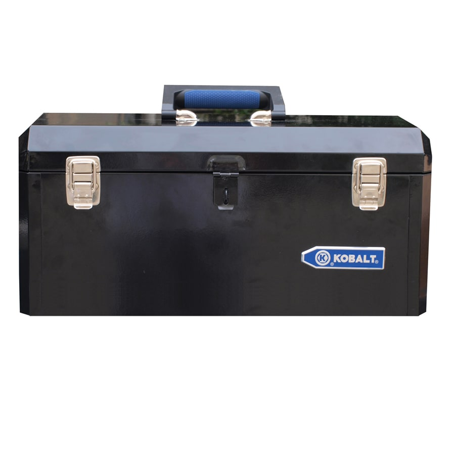 Nice Kobalt Portable 20.6 In Black Steel Lockable Tool Box