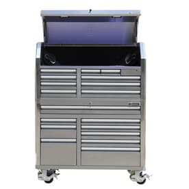 Kobalt 53-in W x 68.7-in H 18-Drawer Ball-bearing Stainless Steel Tool Cabinet (Stainless Steel)
