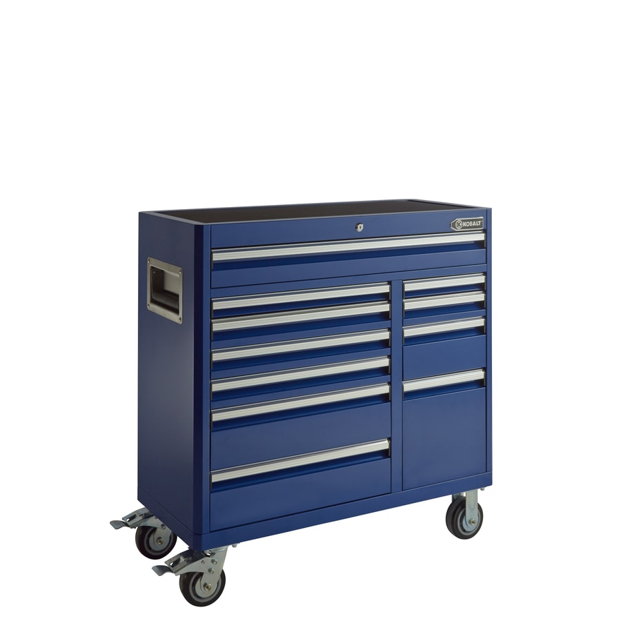 Shop Kobalt 41-in x 41-in 11-Drawer Ball-Bearing Steel Tool ...