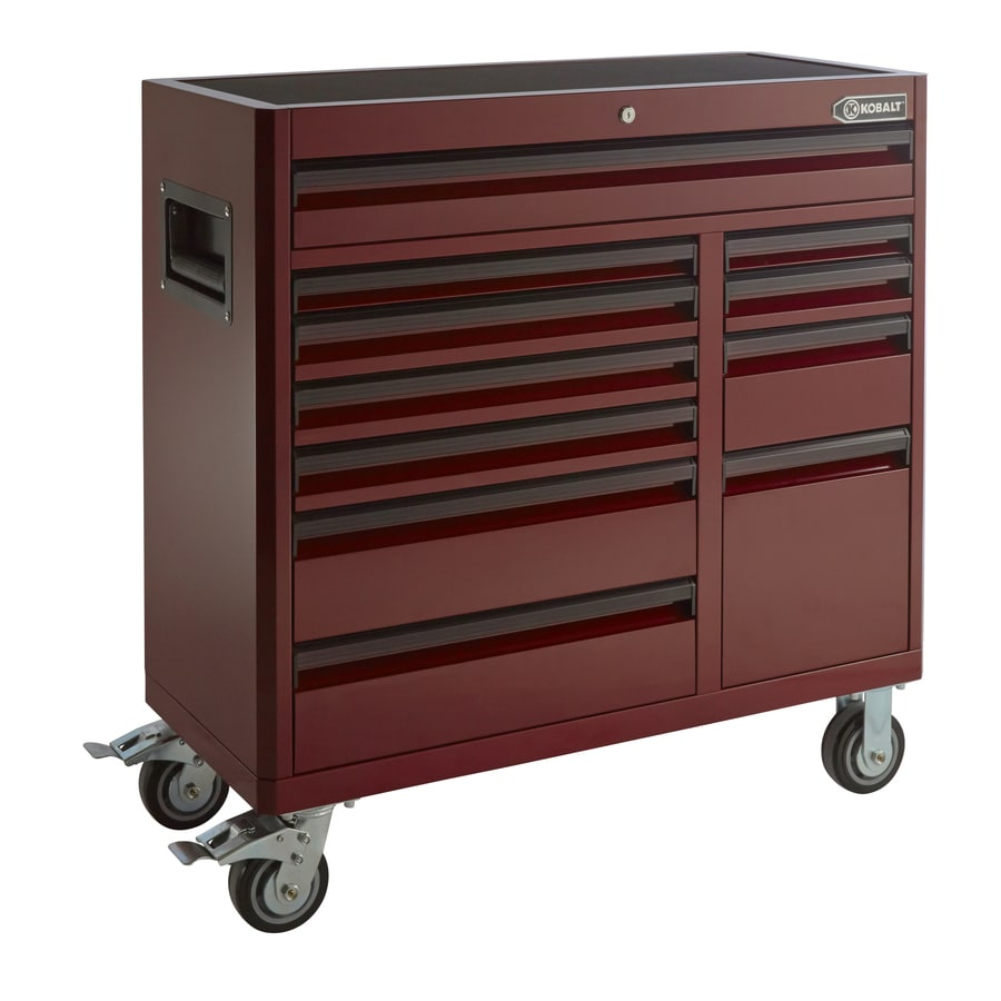 Kobalt 41-in x 41-in 11-Drawer Ball-Bearing Steel Tool Cabinet (Multiple Colors/Finishes)