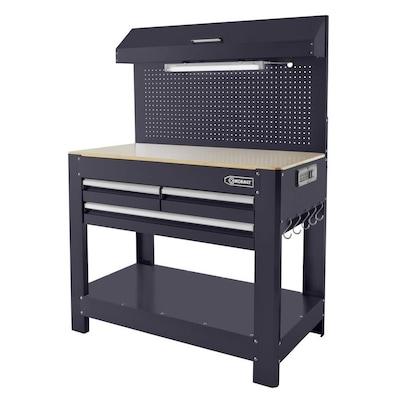 Kobalt 45 In W X 36 In H 3 Drawer Hardwood Work Bench At