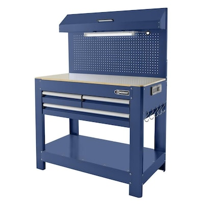 Excellent 45 In W X 36 In H 3 Drawer Hardwood Work Bench Ibusinesslaw Wood Chair Design Ideas Ibusinesslaworg