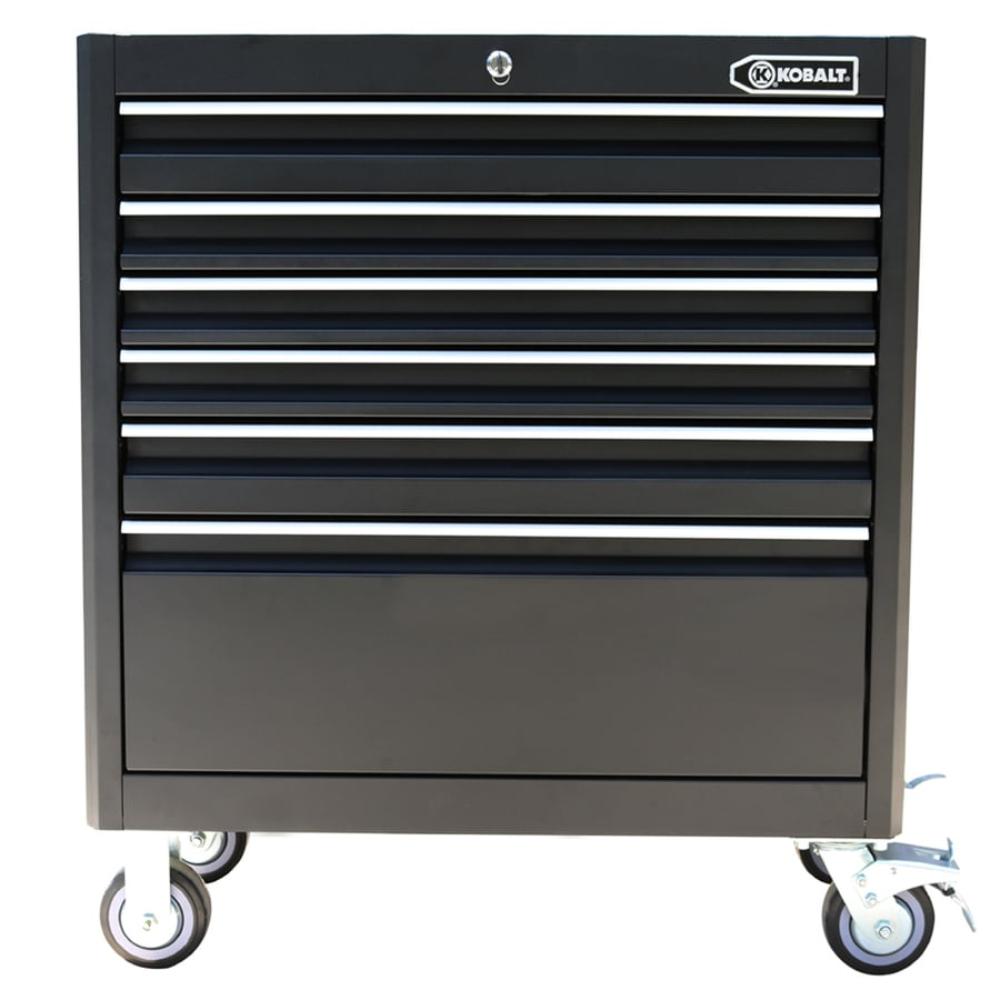 Kobalt 40-in x 35-in 6-Drawer Ball-Bearing Steel Tool Cabinet (Black