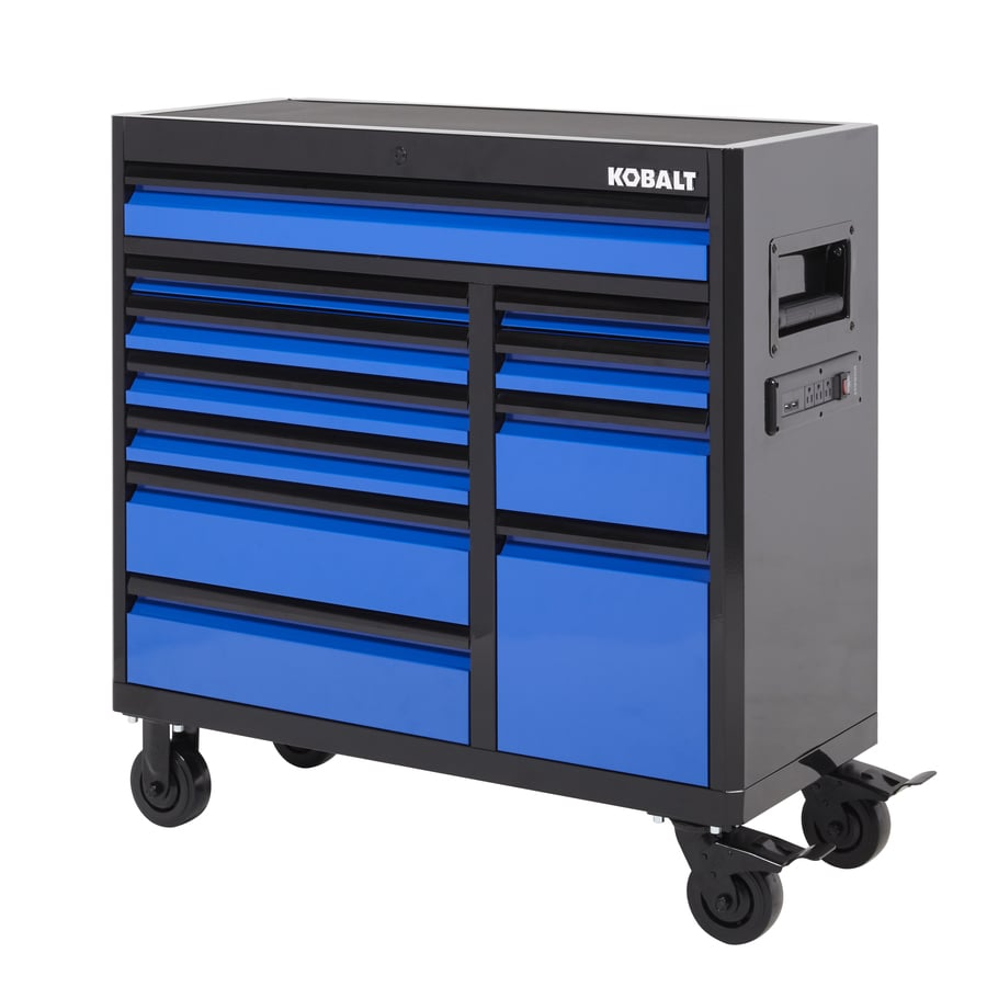 Shop Kobalt 3000 Series 41-in x 41-in 11-Drawer Ball-Bearing Steel ...