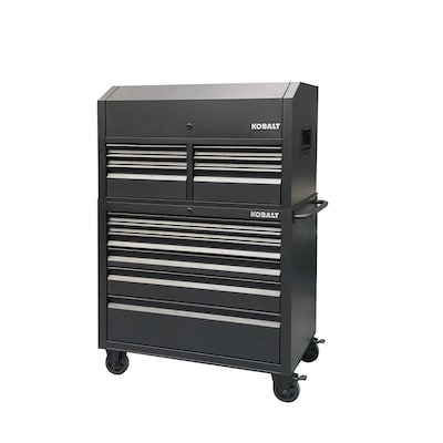 Kobalt Tool Cabinet >> 41 In W X 63 4 In H 12 Ball Bearing Steel Tool Chest Combo Black