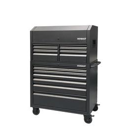 Kobalt 43.6-in W x 63.4-in H 12 Ball-bearing Steel Tool Chest Combo (Black)