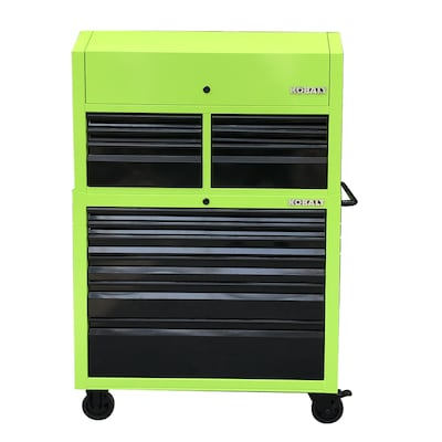 Kobalt Tool Cabinet >> 43 6 In W X 63 4 In H 12 Ball Bearing Steel Tool Chest Combo Green