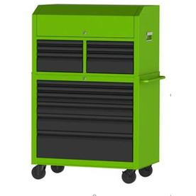 Kobalt 43.6-in W x 63.4-in H 12 Ball-bearing Steel Tool Chest Combo (Green)