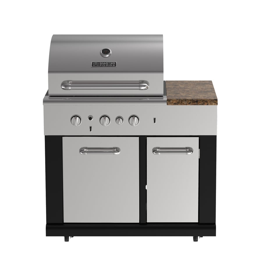 Master Forge Outdoor Kitchen Lowes: Shop Master Forge Modular Outdoor Kitchen 3-Burner Modular