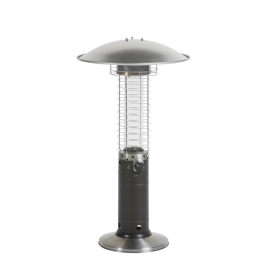 Exceptional Garden Treasures 15,000 BTU Mocha Steel Tabletop Liquid Propane Patio Heater
