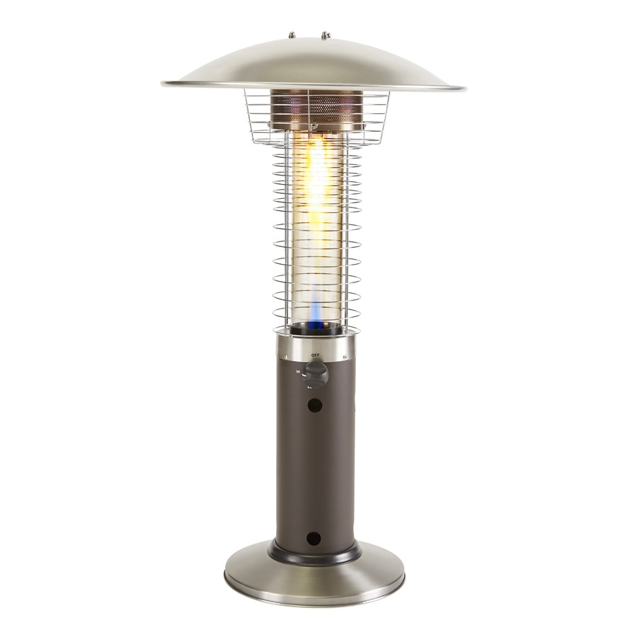 Garden Treasures 11000 Btu Mocha Steel Tabletop Liquid Propane Patio Heater