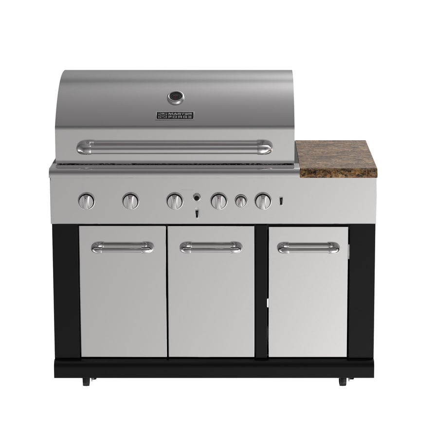prodigious Master Forge Grill Company Part - 1: Master Forge Modular Outdoor Kitchen 5-Burner BG179A Modular Gas Grill