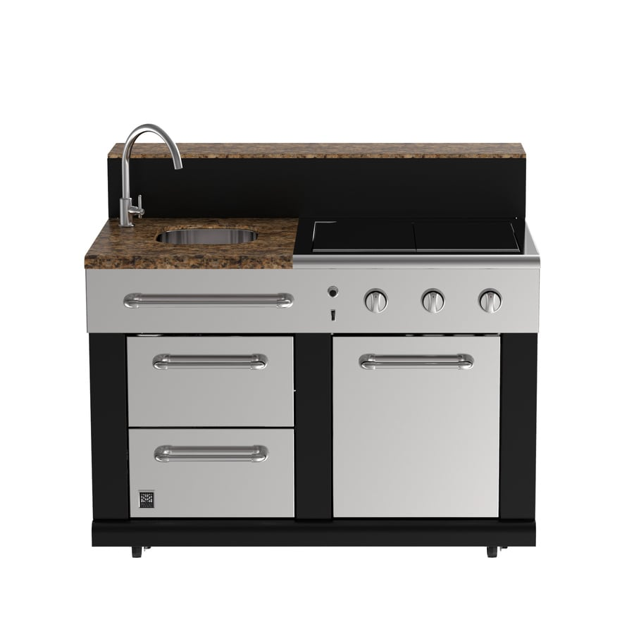 Shop Master Forge 3 Burner Modular Outdoor Sink And Side Burners At