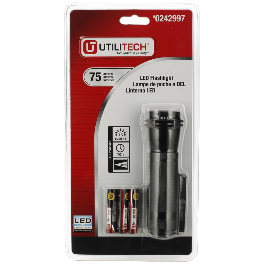 Utilitech 75 Lumens Led Handheld Battery Flashlight
