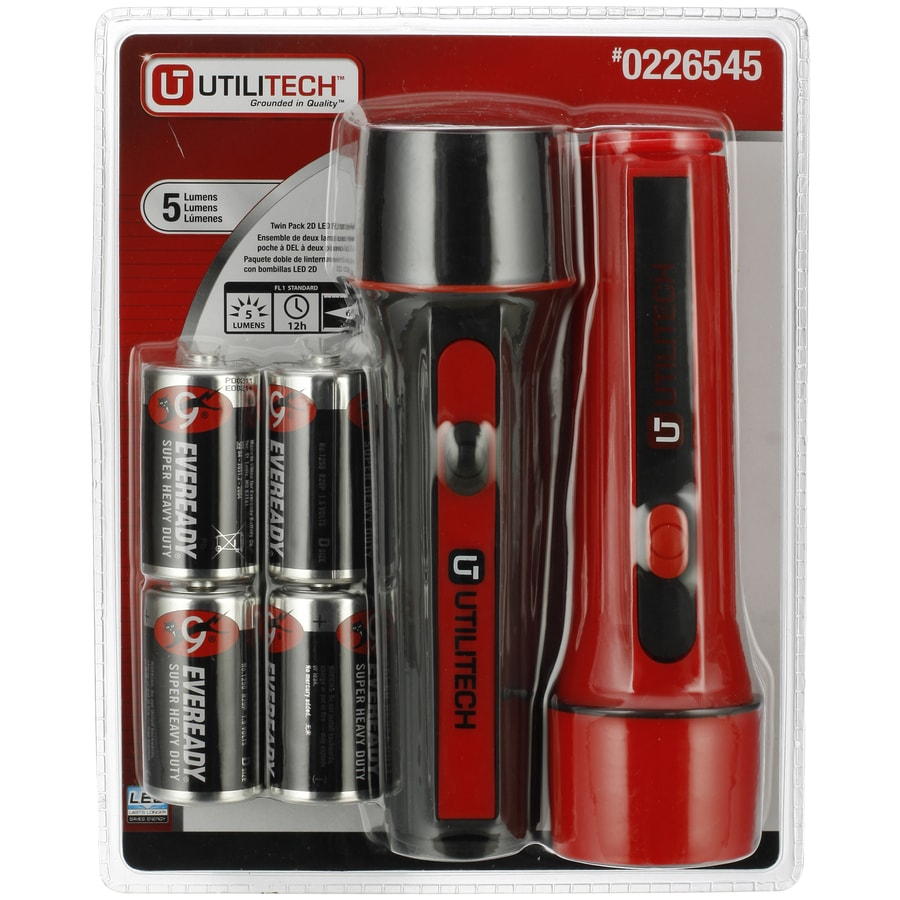 Utilitech 5-Lumen LED Handheld Battery Flashlight