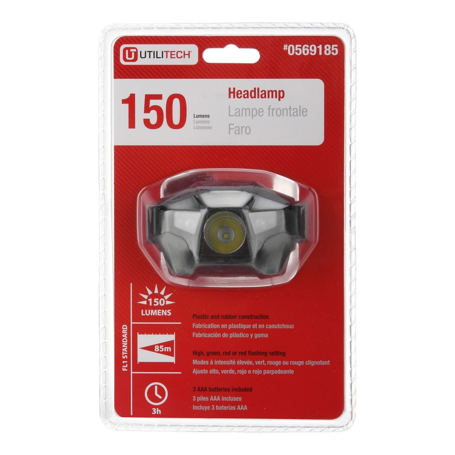 Utilitech 150-Lumen LED Headlamp Battery Flashlight (Battery Included)