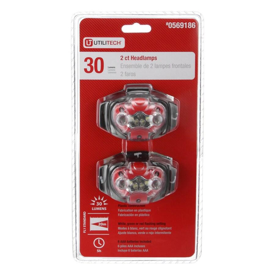 Utilitech 30-Lumen LED Headlamp Battery Flashlight (Battery Included)