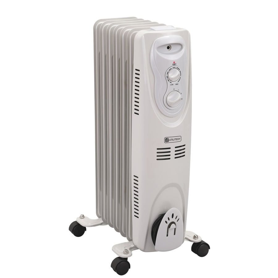 Utilitech 5200 BTU Oil Filled Radiant Tower Electric Space Heater with  Thermostat. Shop Radiant Heaters at Lowes com