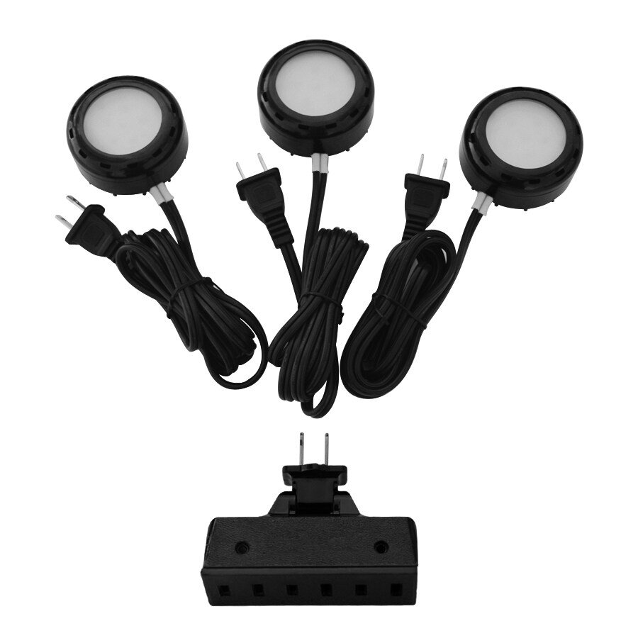 Shop utilitech pro 3 pack 26 in plug in puck lights at lowes utilitech pro 3 pack 26 in plug in puck lights mozeypictures Images