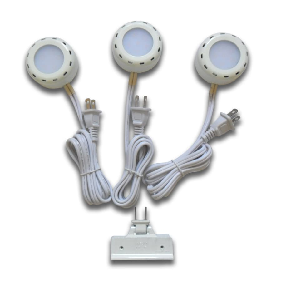 Shop utilitech pro 3 pack 26 in plug in puck lights at lowes utilitech pro 3 pack 26 in plug in puck lights mozeypictures Choice Image